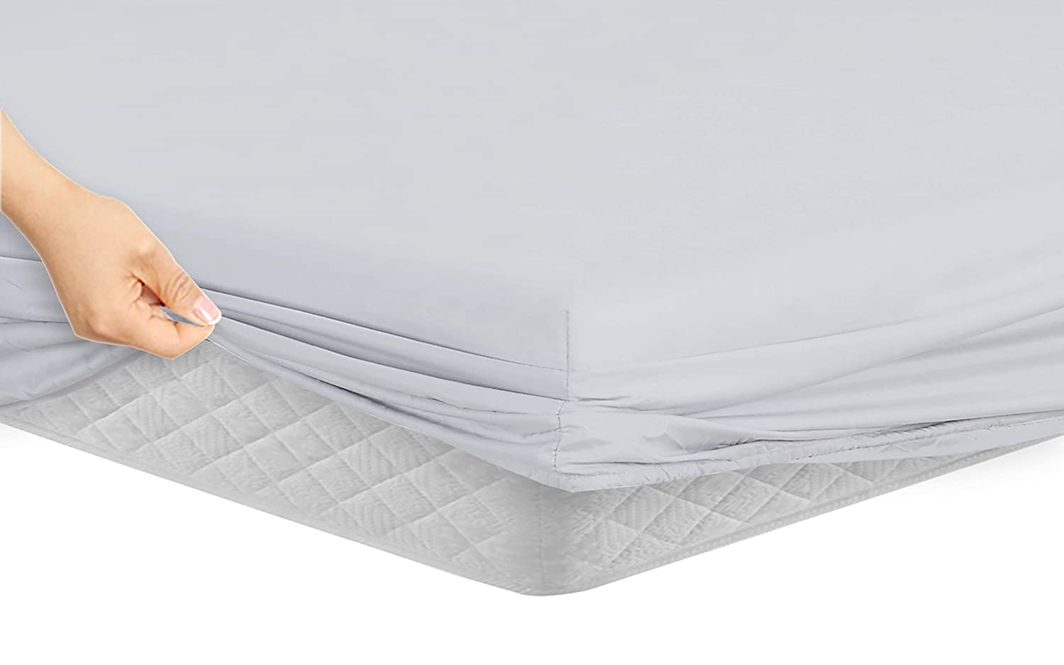 White Manor Ridge Luxury 100GSM Brushed Microfiber Hypoallergenic Fitted Sheet Twin XL