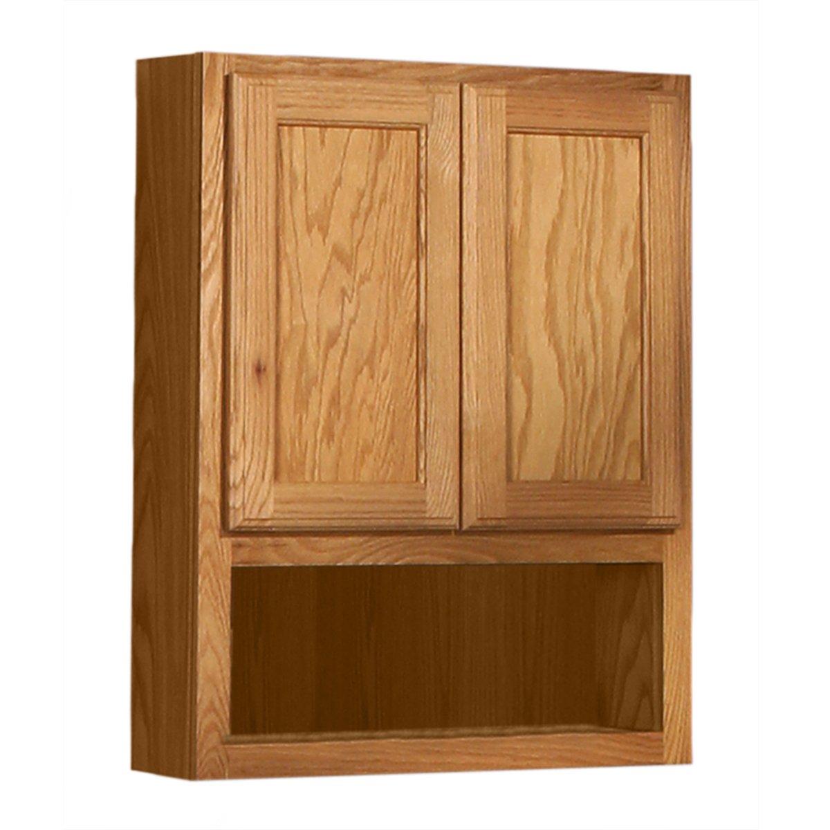 ... BOJ 249 Bostonian Series Red Oak With Honey Oak Finish Flat Panel Oak  Overjohn Cabinet, 24 Inch Wide By 30 Inch Tall By 6 Inch Deep: Home  Improvement