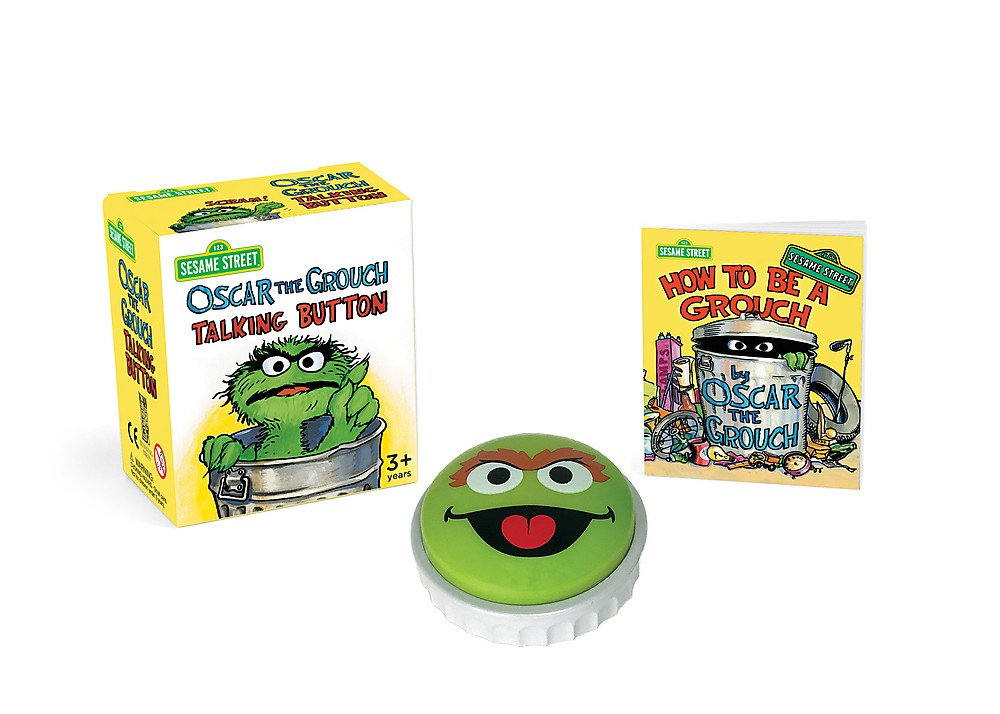 Sesame Street: Oscar the Grouch Talking Button (Miniature Editions