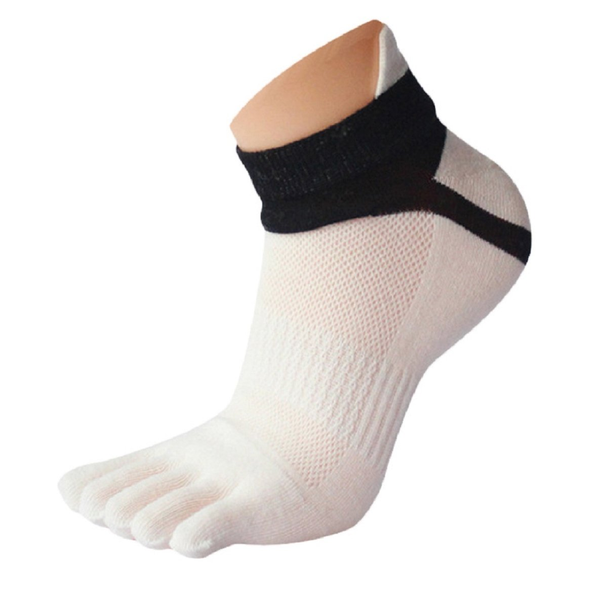 Amison 1 Pair Men Mesh Meias Sports Running Five Finger Toe Socks