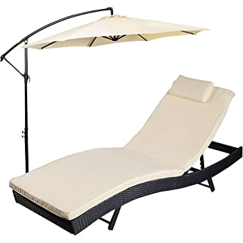 Amazon Com Mainstays Deluxe Orbit Chaise Lounge With