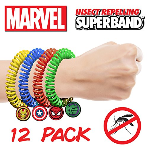 [MARVEL AVENGER Superbands - Insect Repelling Wristbands with AWESOME Superhero Charms! (12)] (Super Easy Character Costumes)
