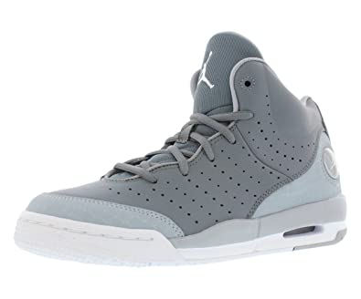 Nike Boy's Air Jordan Flight Tradition Basketball Shoe Cool Grey/Wolf  Grey/White 5Y