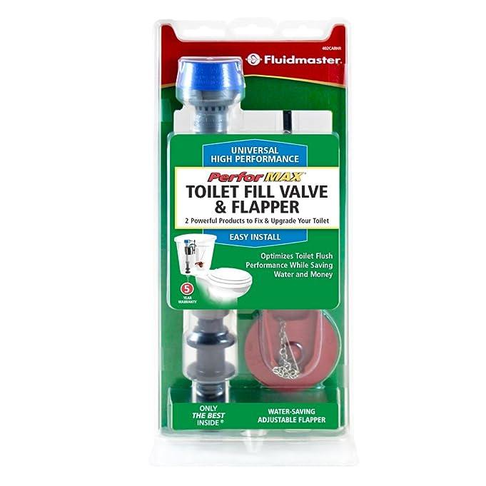 toilet fill valve and flapper. Fluidmaster 402CARHRP14 PerforMAX Toilet Fill Valve  Flapper Kit Amazon com