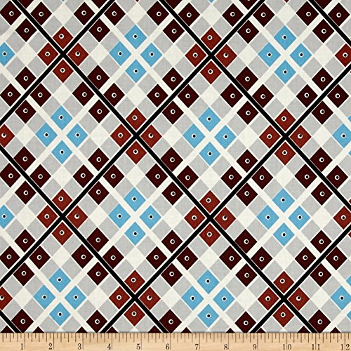 Free Spirit Denyse Schmidt Katie Jump Rope Diamond Plaid & Dot Allure Fabric by The Yard