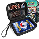 FitSand (TM) Travel Zipper Carry EVA Hard Case for Pokemon Trading Cards - Black Box, Blacker Box, Best Protection for Pokemon Cards