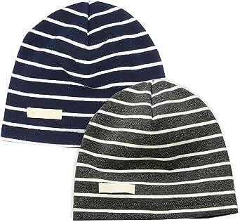 LACOFIA 2 Piezas Sombrero de Beanie de 100% algodón para bebé niños Gorro Tejer de Las bebé de Esencial