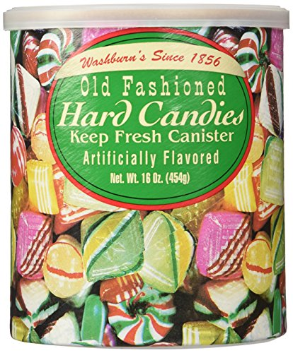 Washburns Old Fashioned Hard Candies 16 oz Canisters (2 pack)
