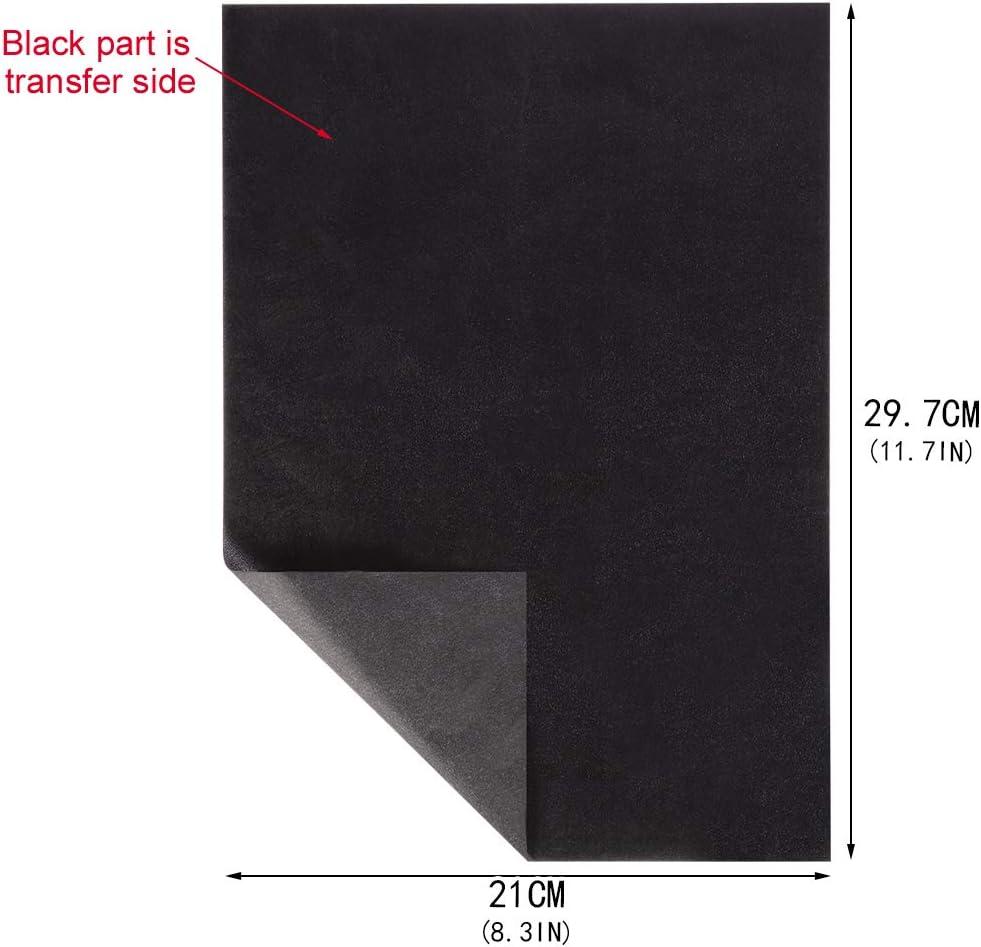 M/étal Verre Bricolage Transfert de Bois Artisanat de Transfert A4 // 8.3 x 11.5 pouces SUI-lim 100 Feuilles Papier Carbone Papier de Transfert pour Bureau Papier Sculpture