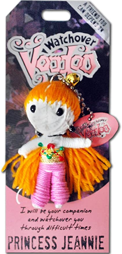 """watchover voodoo doll key chain /""""Princess Jeanie/"""" New with packaging"""