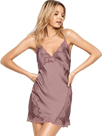 91c4912772342 Victoria's Secret Dream Angels Satin Lace-Trim Slip Antique Rose XS ...