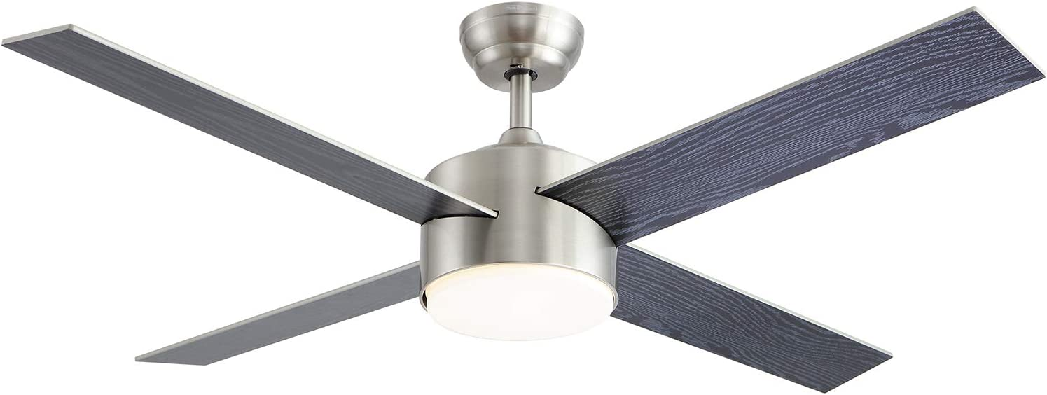 Contemporary Ceiling Fans Brushed Nickel With 3 Abs Blades Co Z 52 Modern Ceiling Fan No Light With Remote Control Indoor Ceiling Fan Airplane Propeller For Kitchen Bedroom Living Room Garage Ceiling Fans