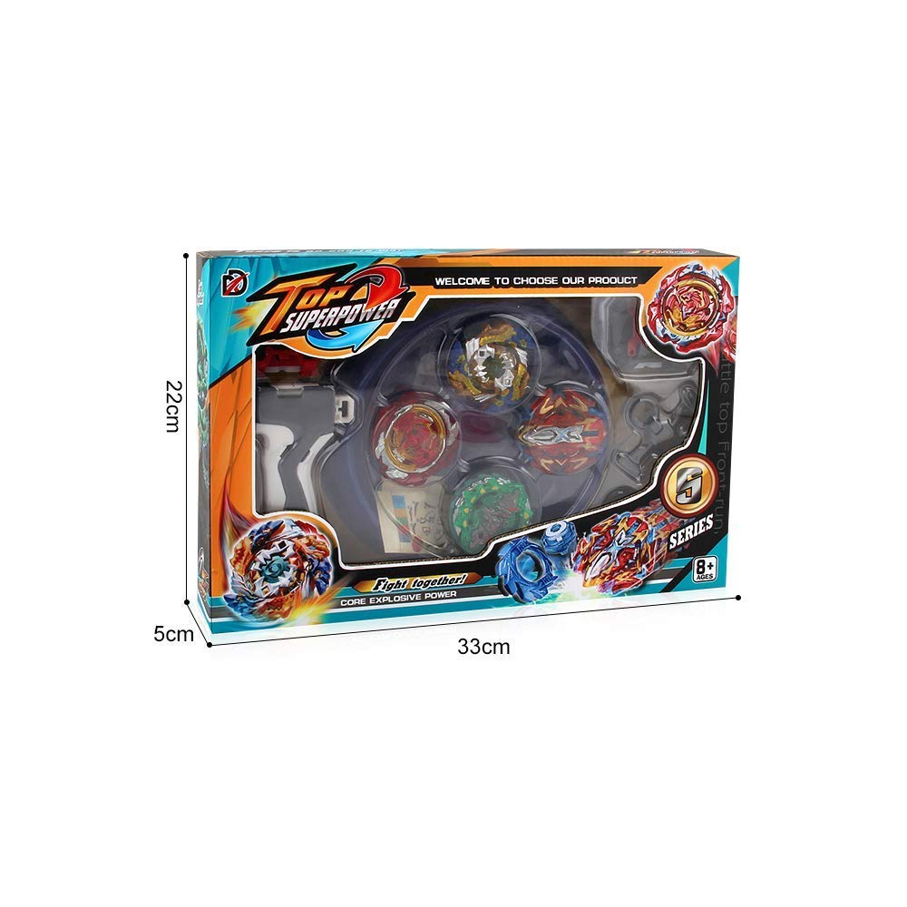 Dey-Tey Burst Battle Evolution Attack Gyro Set with Two 4D Launcher Grip Starter and Stadium(4 in 1) by Dey-Tey (Image #8)