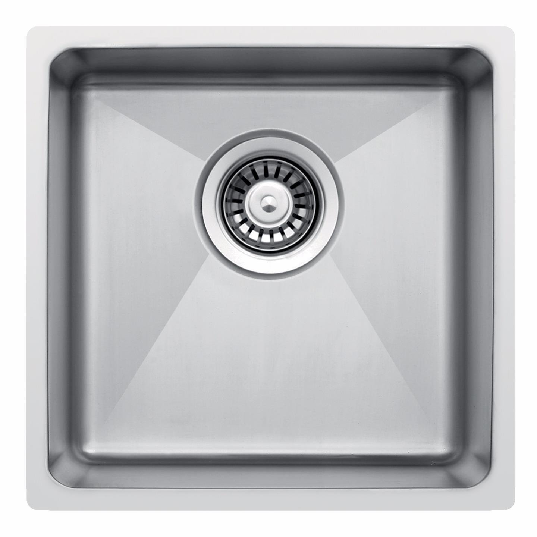 400 x 440 mm Unterbau Rundum Schale tief Single Edelstahl Küchenspüle mit Abfall (LA017)