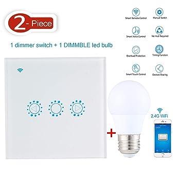 Alexa Beleuchtung   Aolvo Alexa Lichtschalter Dimmer Inkl 1 Wlan Smart Dimming Schalter