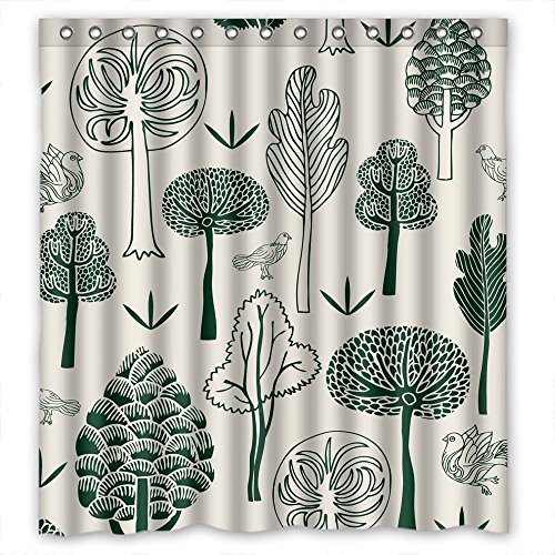 Price comparison product image MaSoyy Bath Curtains Of Tree Polyester Width X Height / 66 X 72 Inches / W H 168 By 180 Cm Best Fit For Kids Boys Mother Gf Birthday Mother. Eco Friendly. Fabric