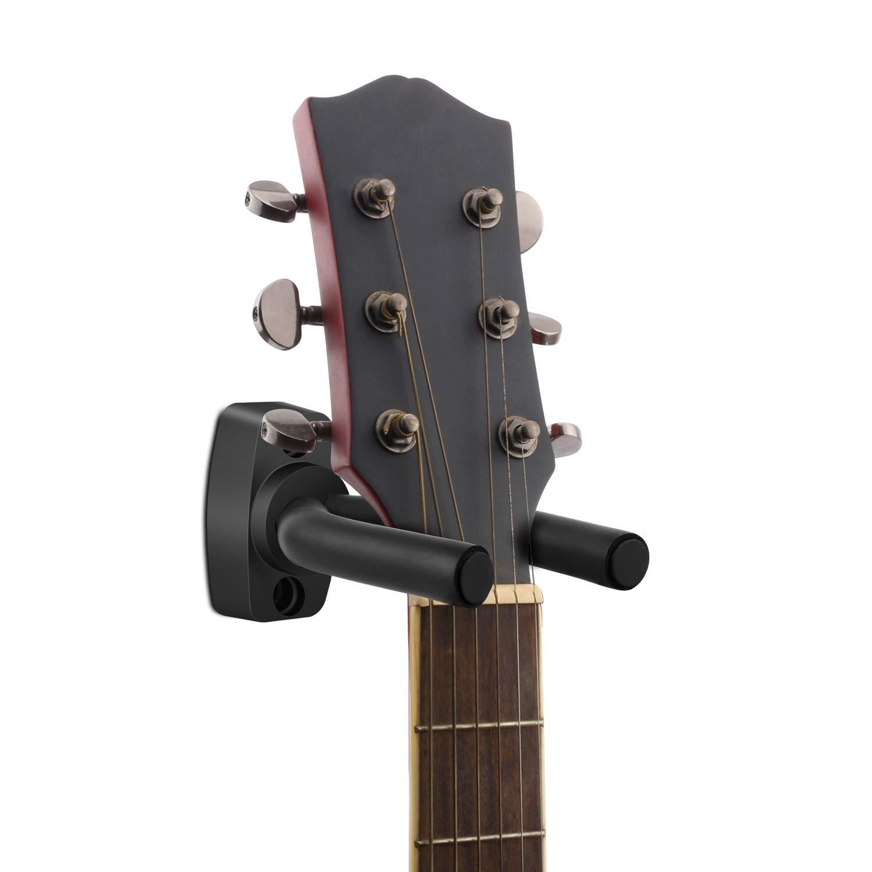 Debonice 4 Piezas Soporte de Pared Para Guitarra negro