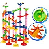 Chocozone Marble Run Track 108 Piece Marble Maze Building Sets Challenge Levels for STEM Learning, Educational Building Blocks Toys for 5 Years Old (Multicolor)