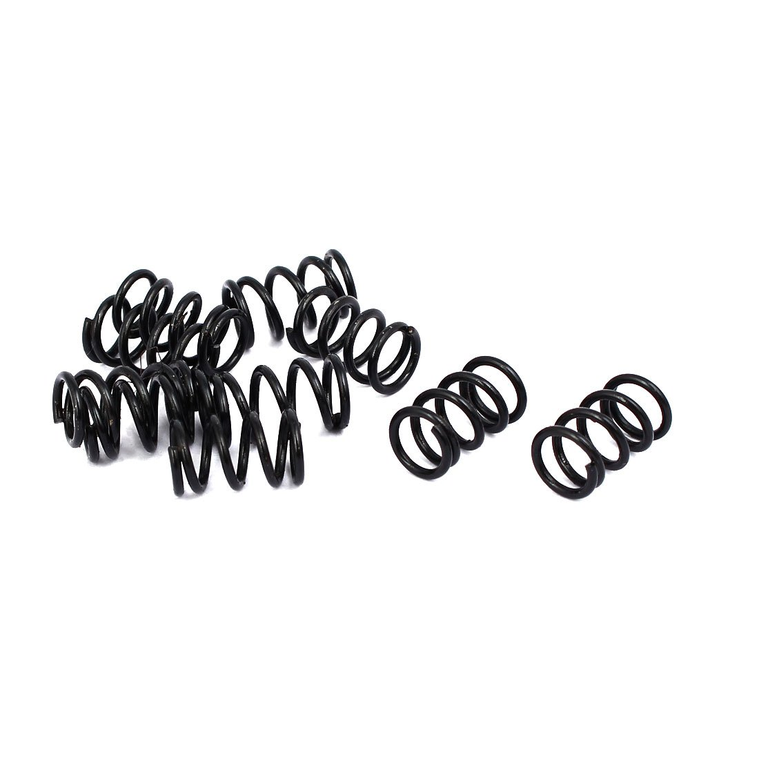 uxcell 1.2mm Wire Dia 9mm Outer Diameter 15mm Long Compression Springs Black 10pcs