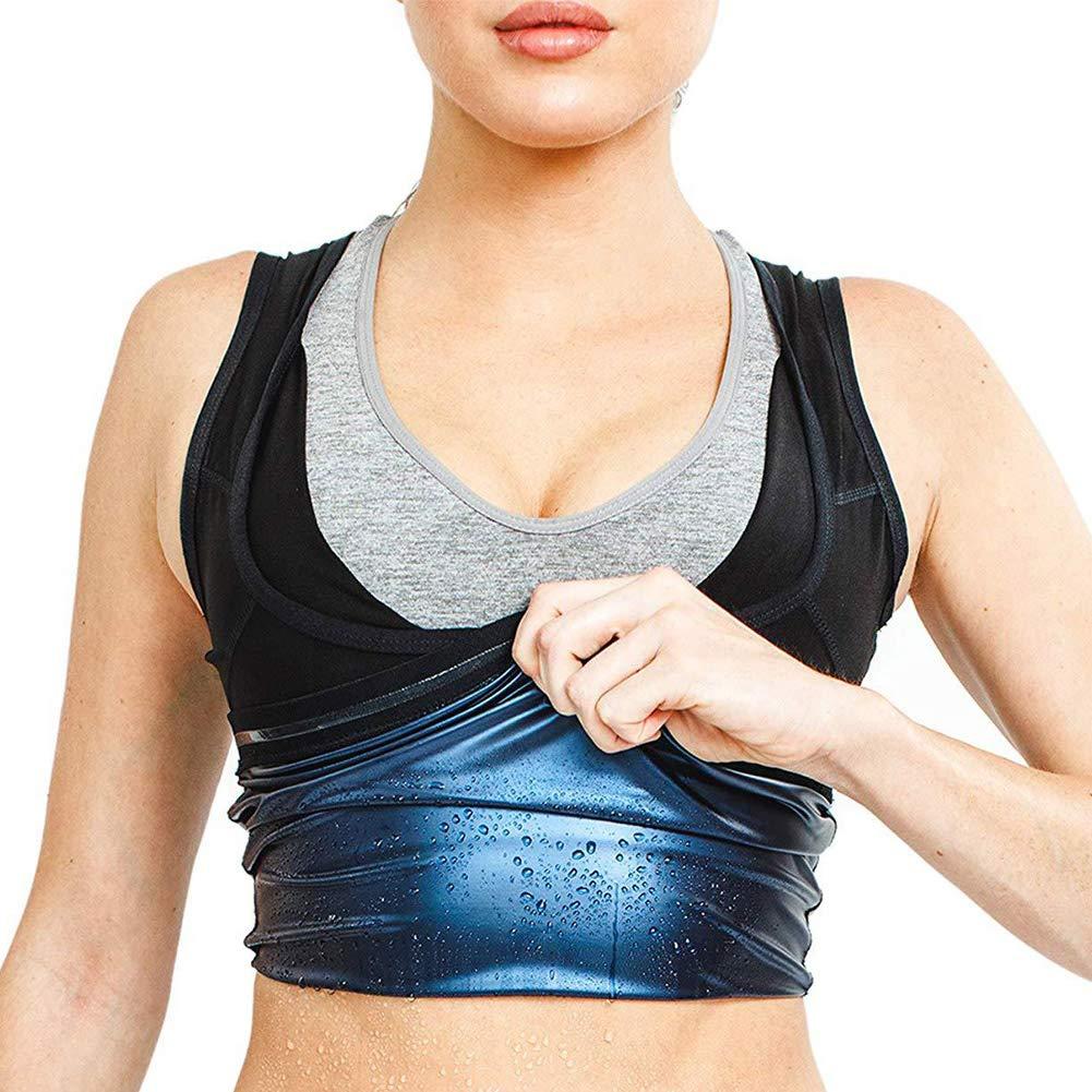 Canotta da Yoga Uomo per Perdita di Peso corporeo da Donna Gilet da Sauna ad Asciugatura Rapida Men Sudorazione Calda Watkings S-M Traspirante