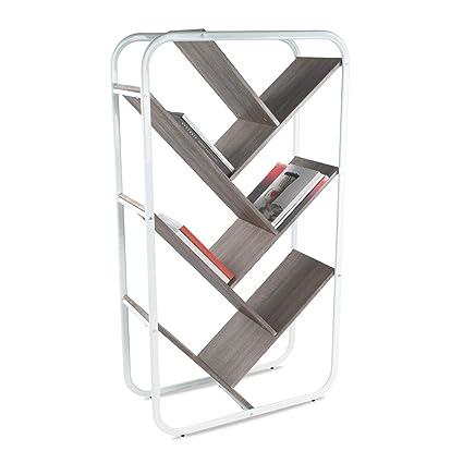 Home Hard-Working Bookshelf 4 Tiers Storage Shelf Unit Bookshelf Bookcase Book Storage Display Rack