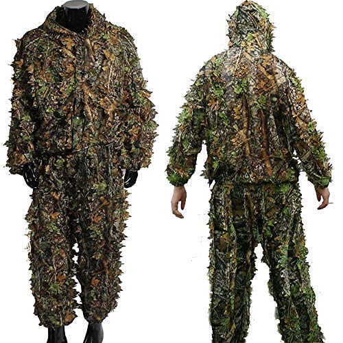 (Hunting Ghillie Suit Camouflage Sniper 3D Tactical Yowie Sniper Hunting Clothes Bionic Ghillie Suit Camouflage Hunting Clothes Shooting Wildlife Photography)