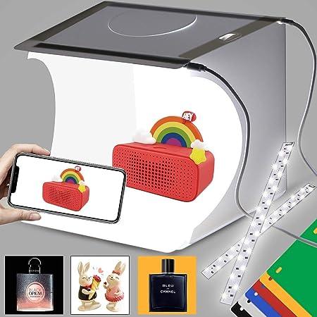 Duclus Fotobox Lichtzelt Photobox Set 22x23cm Fotozelt Kamera