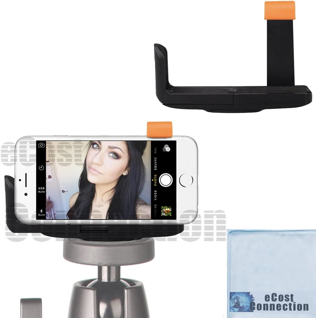 Universal Smartphone Tripod Mount with Padding Fits Almost All Phones eCostConnection Microfiber Cloth