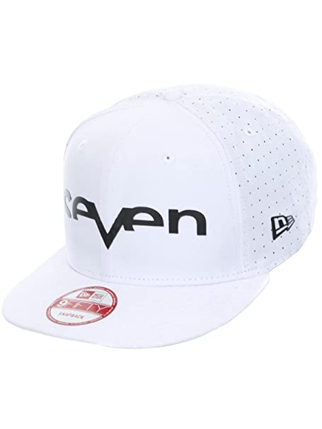 Seven MX Brand Punched Snapback Hat-White Black  Amazon.ca  Clothing    Accessories 63bd5fd34e53