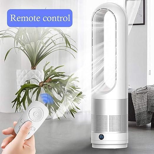 WRISCG Silencioso Ventilador Sin Aspas Aire, Control Remoto Ventilador De Enfriamiento Seguridad De Los Iones Negativos Filtro De Aire Casa, para el hogar y la ...