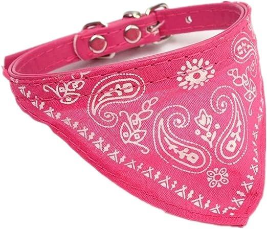 Dcolor Rosa Mascota Bufanda Collar Ajustable Perro Gato Triángulo ...
