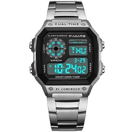 SW Watches PANARES Hombres Deportes Relojes Digitales Cronógrafo Reloj Resistente Al Agua Reloj De Pulsera De