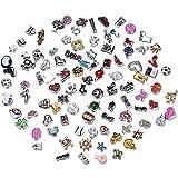 Rinhoo Random Charms for Glass Living Memory Lockets DIY Wholesale Lot Mix 50 Pcs