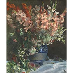 Oil Painting 'Pierre Auguste Renoir Gladioli In A Vase', 30 x 36 inch / 76 x 93 cm , on High Definition HD canvas prints is for Gifts And Game Room, Garage And Nursery Decoration, prices
