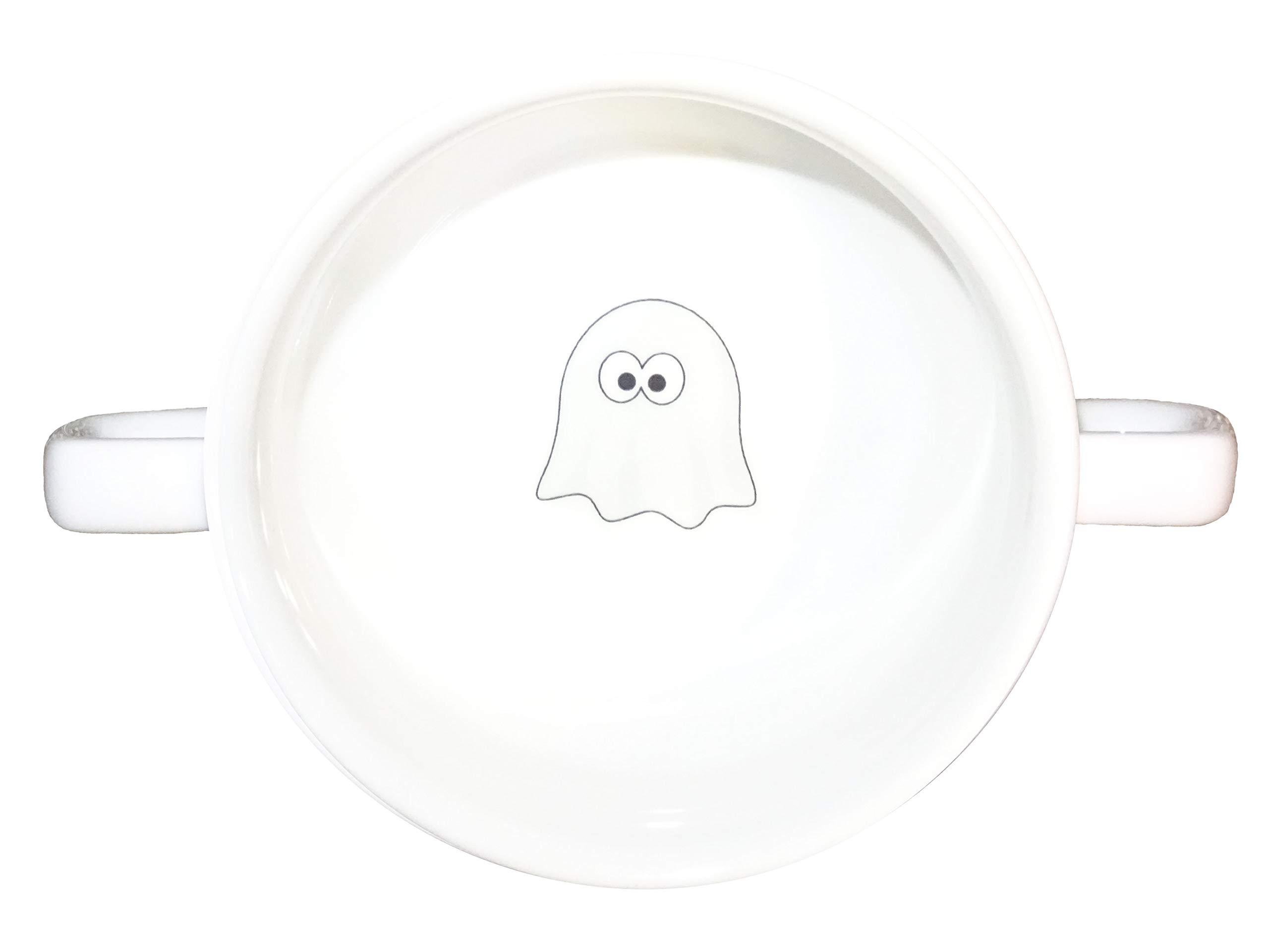 Soup Bowl 20, 1 pcs, Ghost Smiley Soup Bowl Small Baby Child Kids, Bottom, Hidden Message, Secret Message, Animal, Cartoon, Cute Animals, Kids, Porcelain