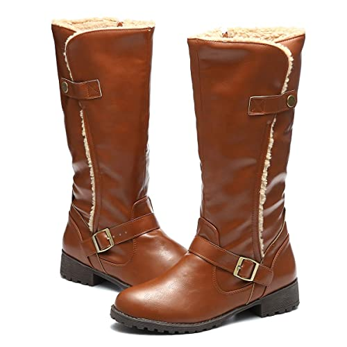 ca63a83ee839e gracosy Womens Wedge Boots Ankle Mid High Snow Boots Fur Lined Wedge  Platform Mid-Calf