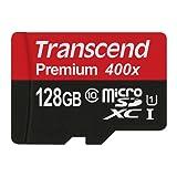 Transcend Memory Card black / red 128 GB