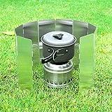 Ohuhu Camp Stove Windscreen 10 Plates Aluminum