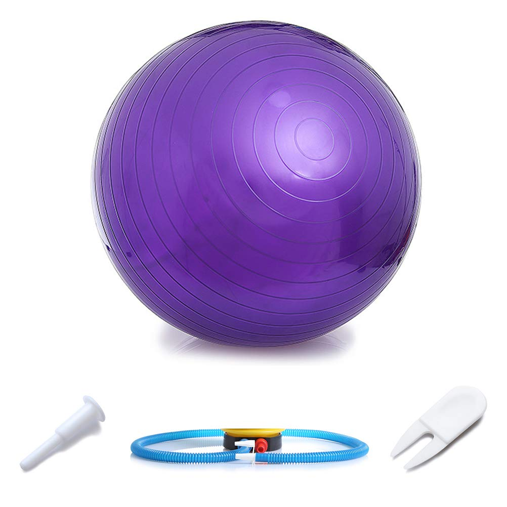 WINBST Gym Ball Balance Ball Soft Pilates and Yoga Ball with Pump Anti-Burst Fitness Balance Ball for Core Strength