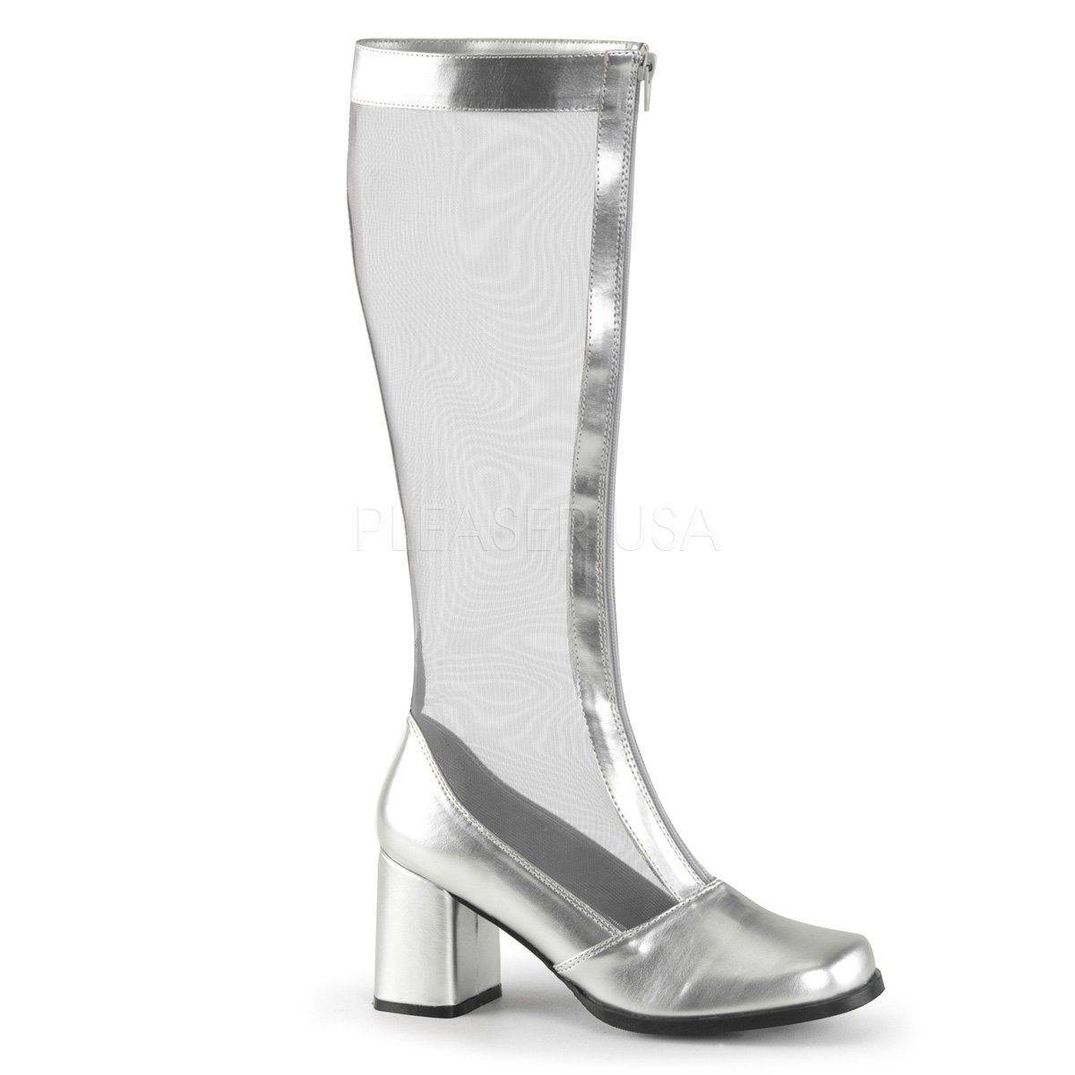 Funtasma Women's Gogo 307 Black Heel Mesh Fashion Boot PleaserUSA