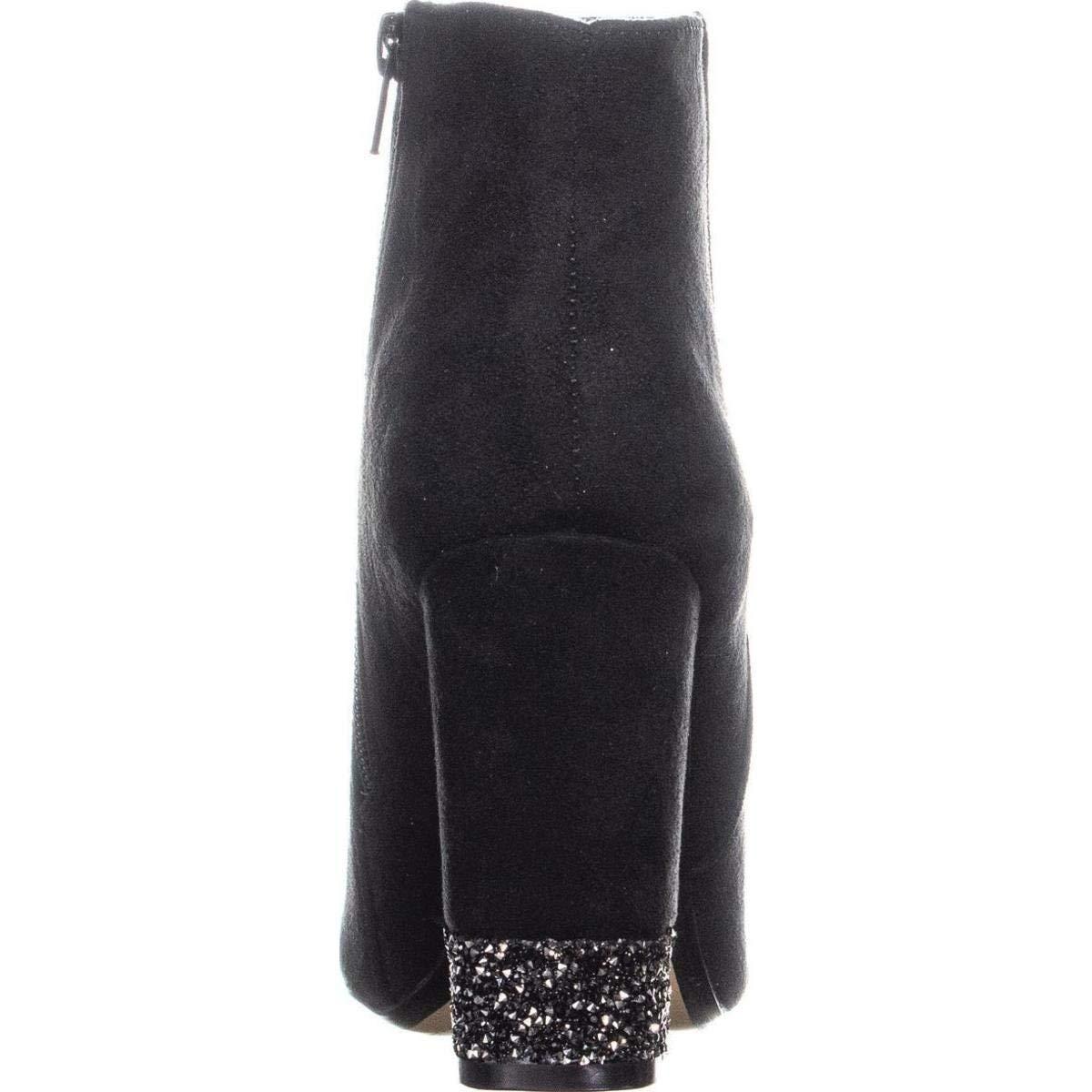 Size 9.0 Black XOXO Womens Yardley Fabric Closed Toe Ankle Fashion Boots