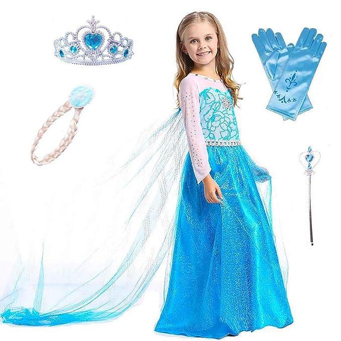 SAMGU Niña Princesa Vestido Disfraz Partido Dress con Accesorios