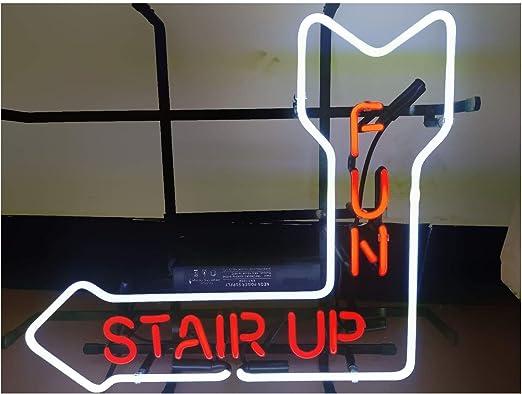 Stair UP - Cartel de neón para bar o club de cerveza con luces de ...