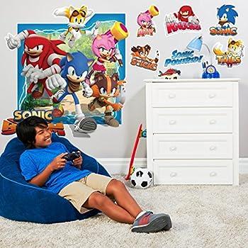 Sonic Boom Room Decor   Giant Wall Decal. Amazon com  Sonic Boom Room Decor   Giant Wall Decal  Toys   Games