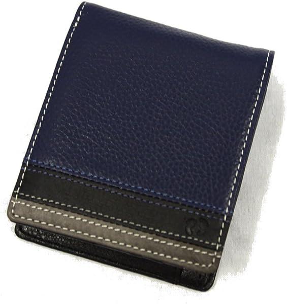 a92af97ca0ed Amazon | 財布 二つ折り メンズ レザー レディース ブランド 小銭入れあり 男性 ハンテン HANG TEN 61HT03 ネイビー | HANG  TEN(ハンテン) | 財布