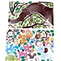 Yosoo Jungle Tree Wall Decal Stickers Mural Wallpaper Removable Wall Decor Wall Treatments Stickers for Kids Living Room bedroom Baby Nursery Room Decor Wallpops Decal