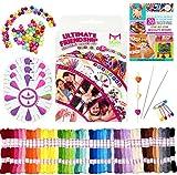 Mira HandCrafts Friendship Bracelet Jewelry Kit| Large 161 Piece Bracelet Making Kit | Great Kids Craft Kit and Ideal Gift for Kids | 20 Bracelet Patterns E-Book