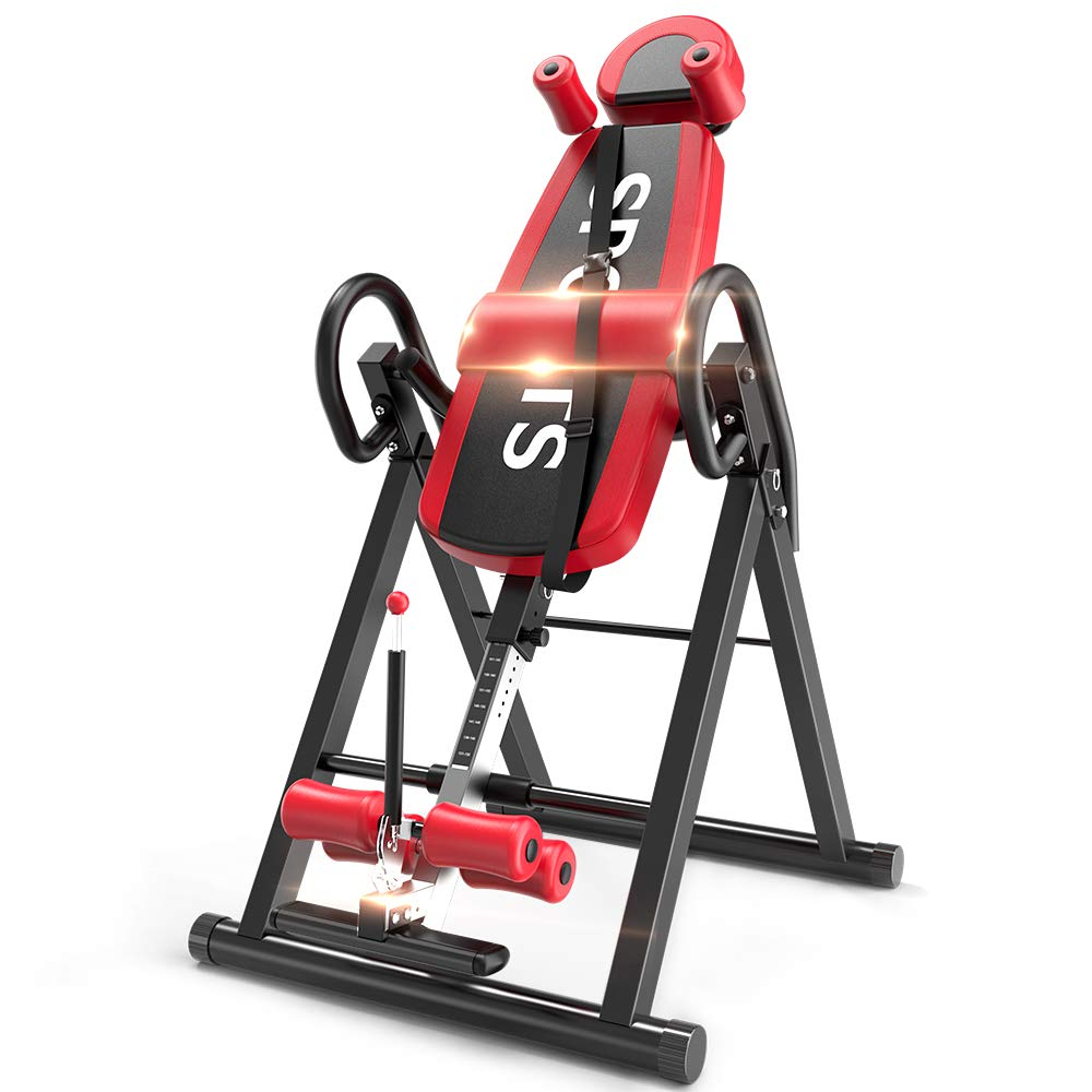 Yoleo Gravity Heavy Duty Inversion Table with Adjustable Headrest & Protective Belt (Red) by Yoleo (Image #1)