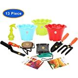 """KRAFT SEEDS 9 PIECES GARDEN TOOLS SET WITH 2 KRAFT SEEDS PKTS GARDENING TOOLS WITH ORGANIC MANURE AND KRAFT AGRO PEAT FOR FAST GERMINATION AND ALSO SPRAYER PUMP (250ml.) THIS SPRAYER PUMP IS A USED TO SPRAY A LIQUID OR WATER. IN GARDENING TOOLS SET GARDEN TROWEL ,PRUNERS ,CULTIVATOR , KHURPI FOR SMALL ,FORK AND BLACK POT 3"""" (3pcs SET) AND KRAFT SEEDS AFRICAN MARIGOLD ORANGE AND ZINNIA FLOWER PKTS"""