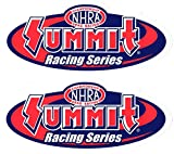 NHRA Summit Racing SeriesDecals Stickers 8-3/4 Inches Long Size Set of 2 Vinyl offers